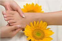 About Reflexology. sunflower