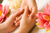 About Reflexology. hand reflex